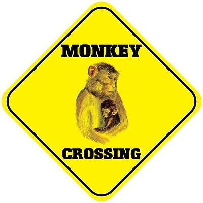 Monkey-Crossing-Funny-Metal-Aluminum-Novelty-Sign