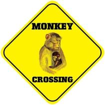 Monkey-Crossing-Funny-Metal-Aluminum-Novelty-Sign